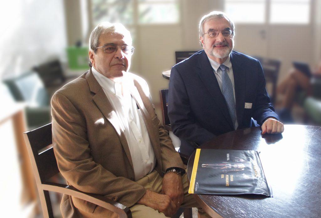 Da esq: Prof Howard Saal e Prof. Roberto Guarniero